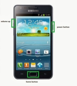 Samsung Galaxy S2 Plus i9105 buttons