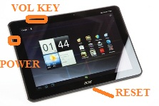 Acer Iconia A700 keys
