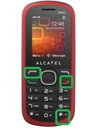 alcatel-ot318d-keys